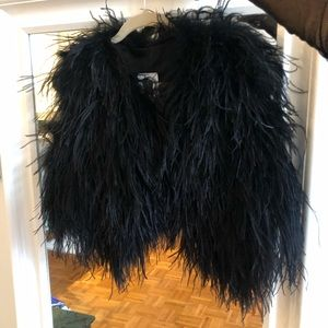 Other - Marabou feather vest